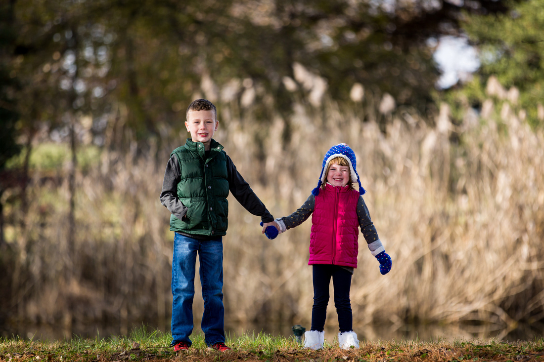 Fall children session at Louise Moore Park